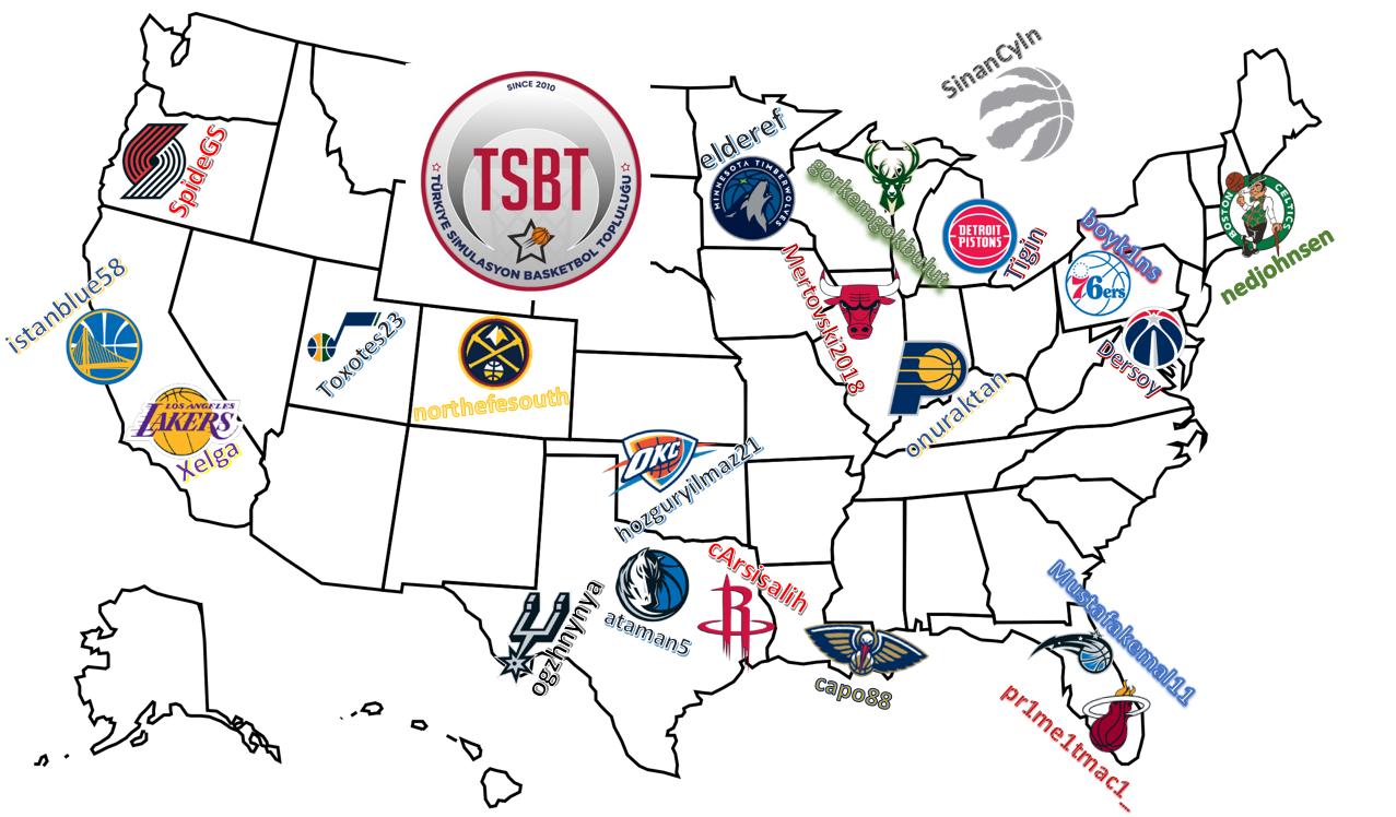 TSBT 37. Sezon Takım Seçimleri Haritası