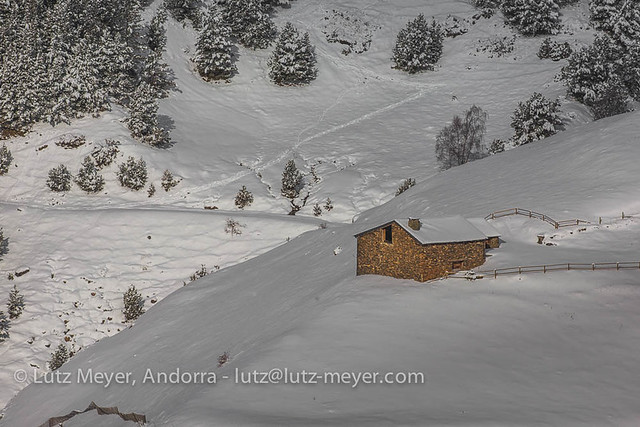 Andorra at winter: La Massana, Vall nord, Andorra. Altitude 2000+ collection.