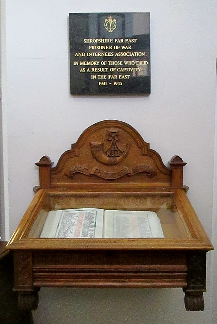 St Chad's World War 2 Roll of Honour and Far East Memorial