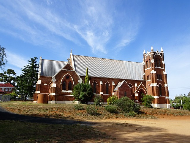 Photo:Grenfell. The Catholic Church bought this land in 1872 and operated a school on it. This fine Gothic Church was built in 1906. By denisbin
