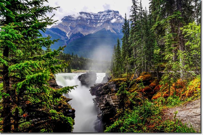 Athabasca Falls with Mount Kerkeslin as a Backdrop (Jasper National Park) 3