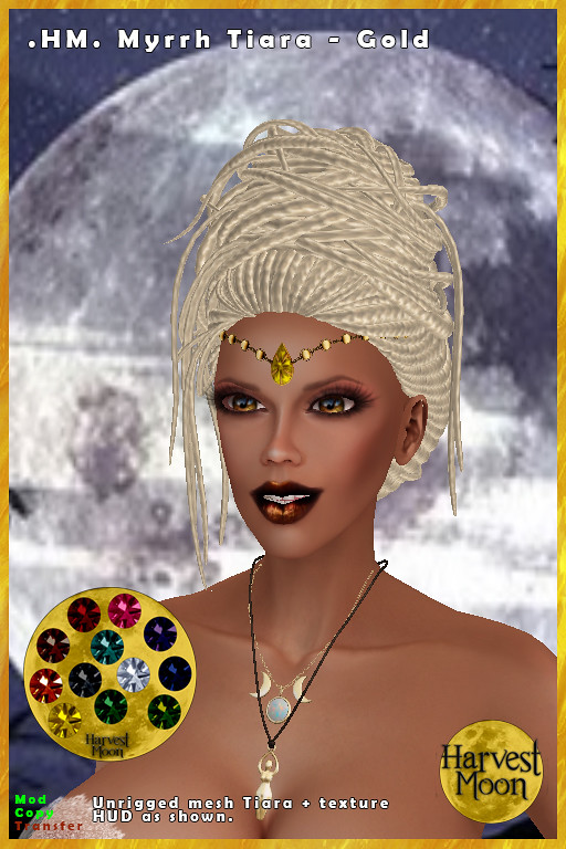 Harvest Moon – Myrrh Tiara – Gold