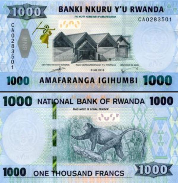 1000 Frankov Rwanda 2019, P43