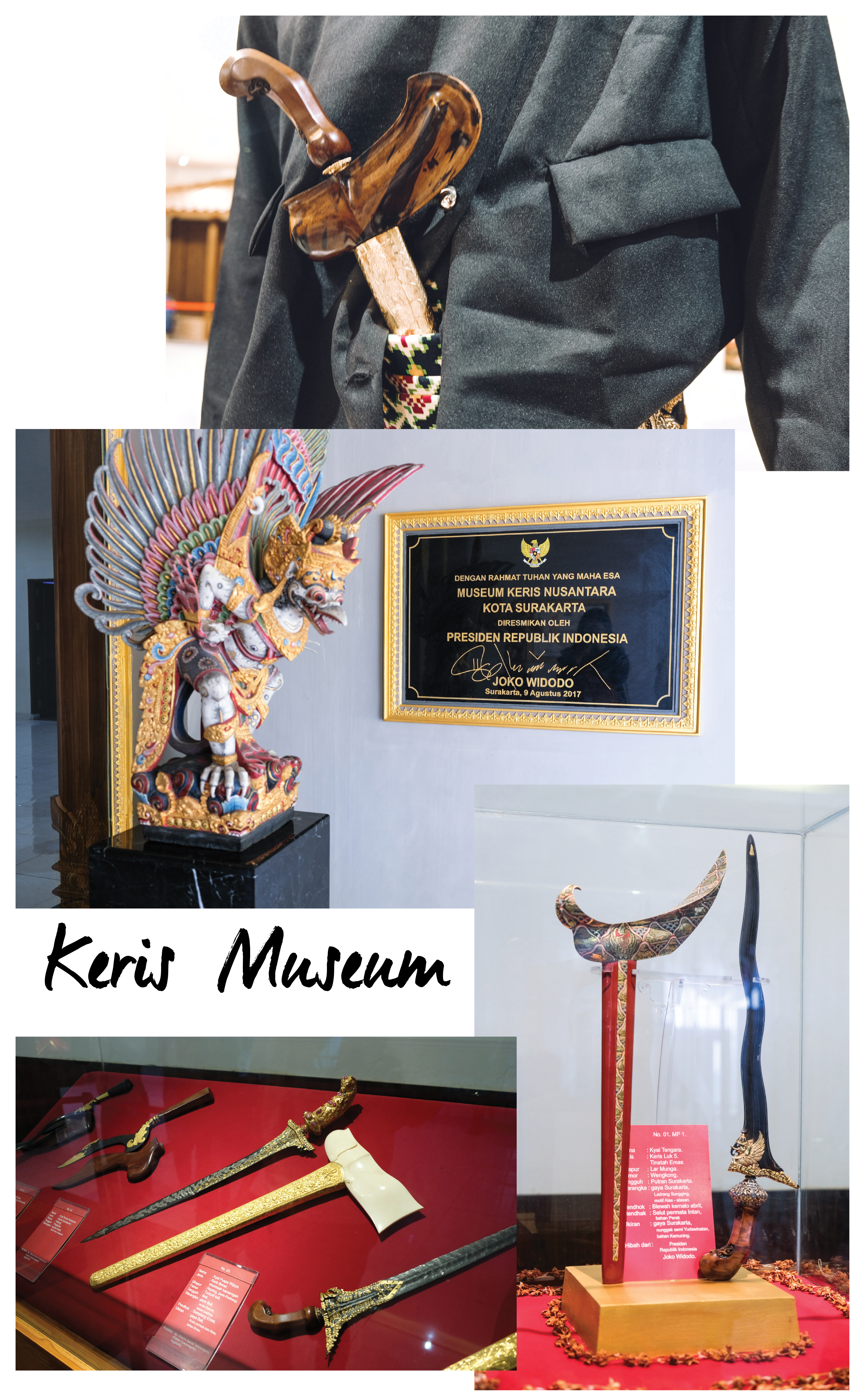 Find a keris when you travel in indonesia