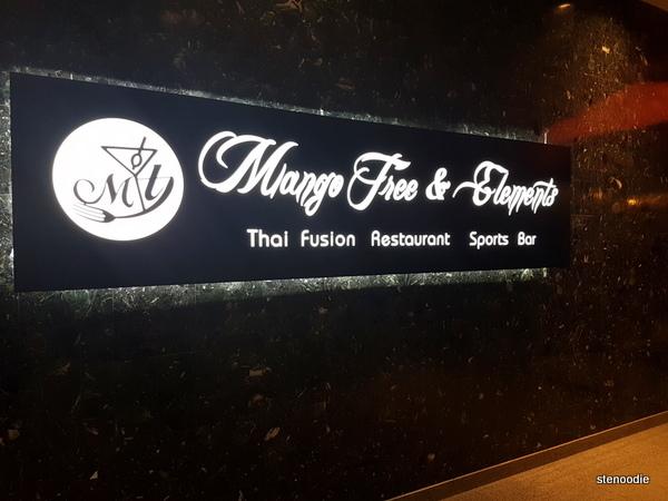 Mango Tree Thai Fusion Restaurant signage