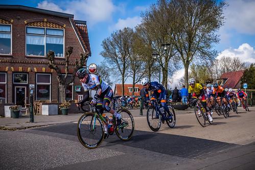 Anna van der Breggen leads the pack.