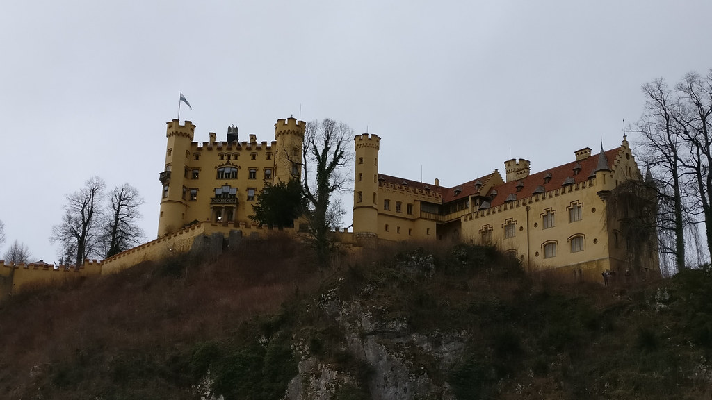 Hohenschwangau Castle from below