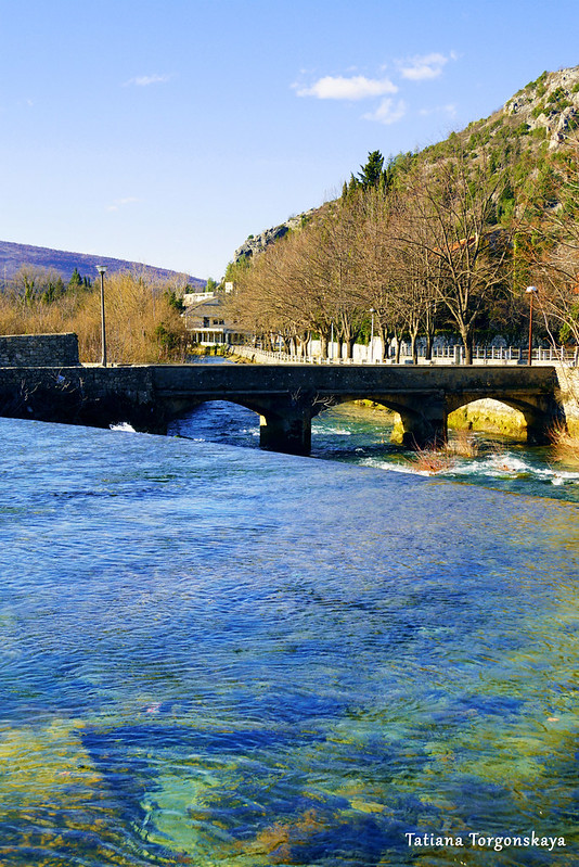 Вид на арочный мост