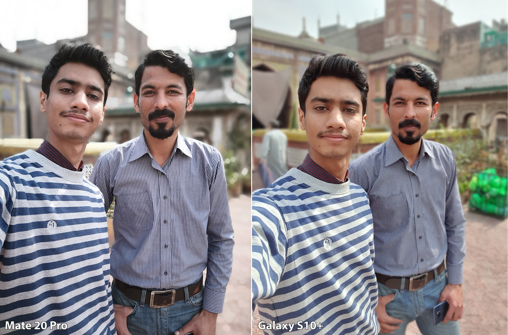 Mate 20 vs Galaxy S10+: Selfie with Background blur
