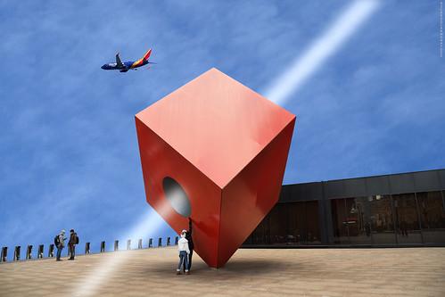 Juego imáginario con un cubo - Imaginary game with a cube