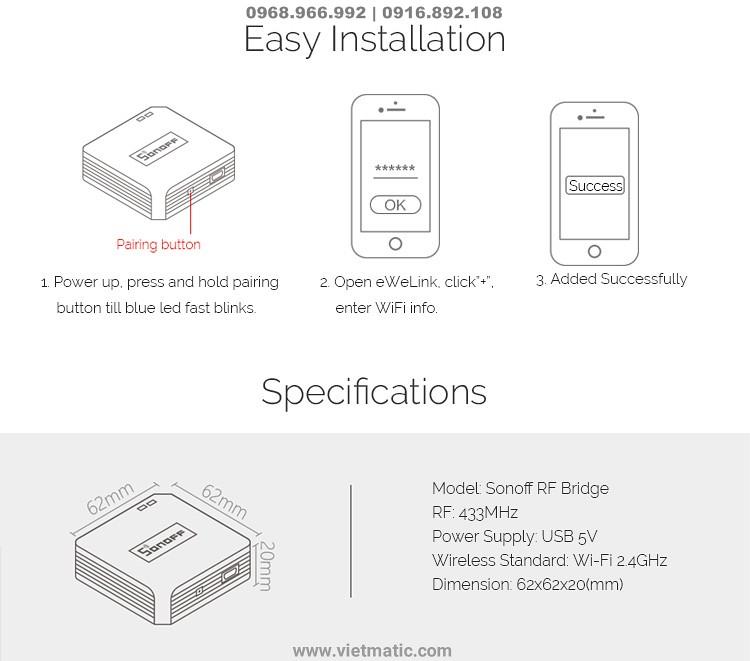 Kết nối với thiết bị Smart phone dễ dàng