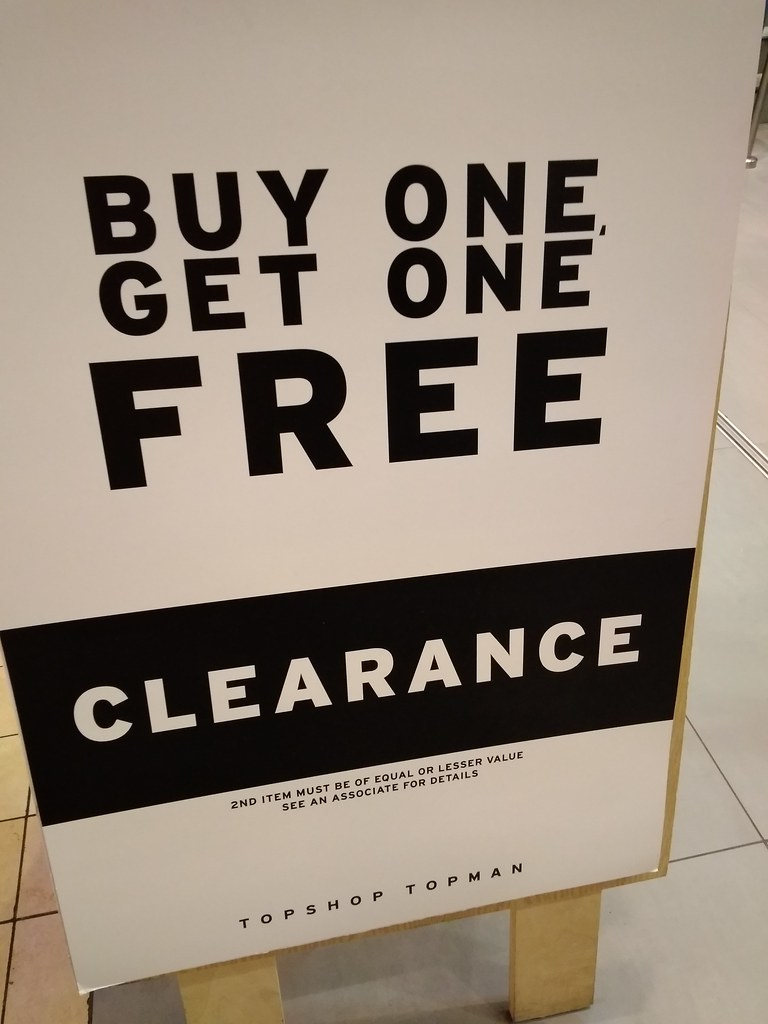 TOPSHOP TOPMAN buy one get one free clearance