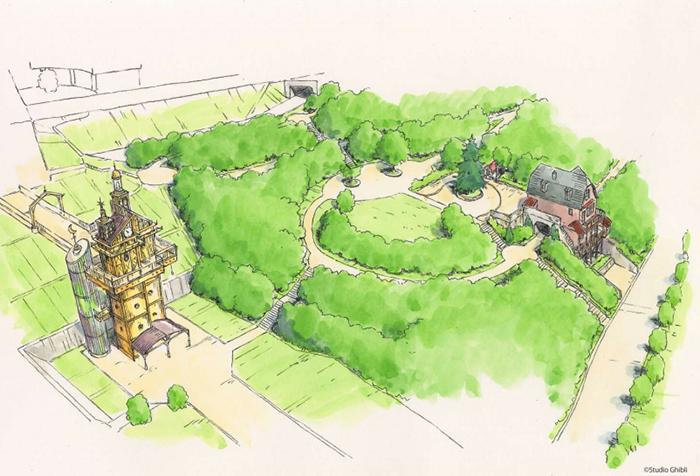 Visualisasi Taman Hiburan Studio Ghibli 2022