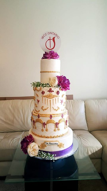 Indonesian Layer Cake inside with the Purple Flower by J & Me Cake, Inc