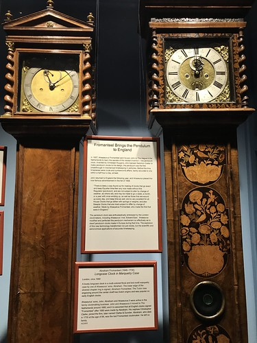 17th century Pendulum Clocks from England, at the Halim Time and Glass Museum. From History Comes Alive Touring Chicago's North Shore