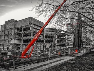 Abriss Bürogebäude Überseering Hamburg
