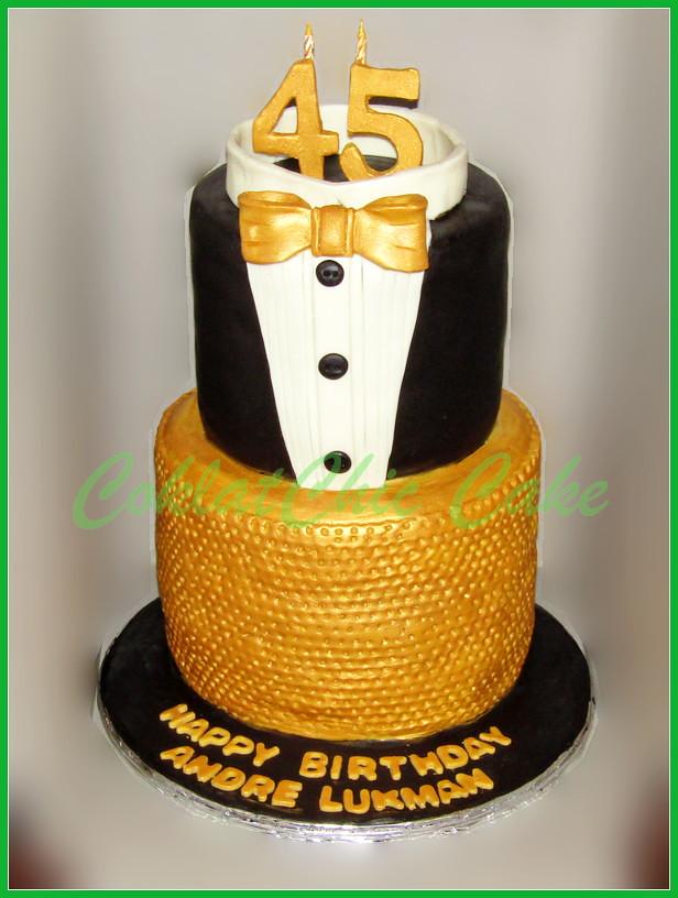 Cake Tuxedo ANDRE LUKMAN 2x20cm dan 2x15 cm