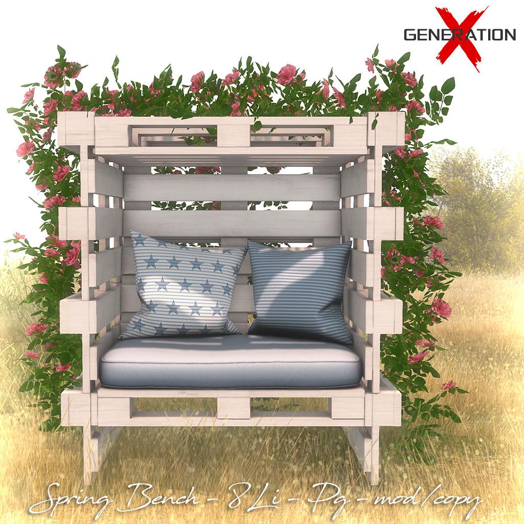 [ Generation X ] Spring Bench