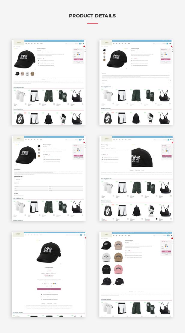 Ap Sporty Amazing Fashion Trend Prestashop Sport Theme - Multiple product page layouts