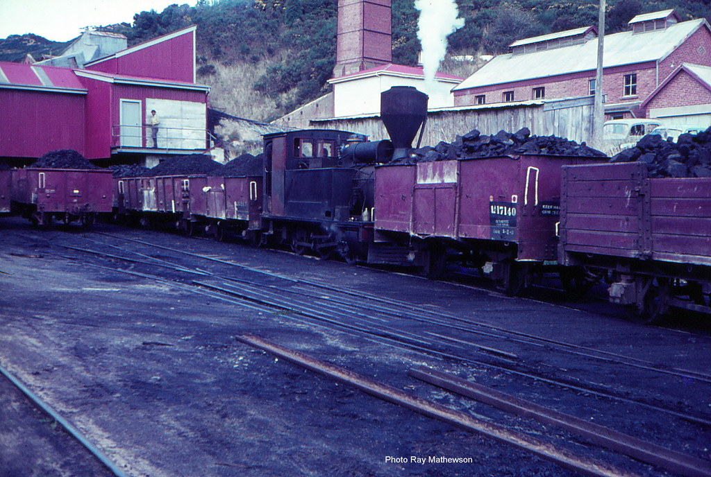Shunting coal wagons at the mine loadout bins.