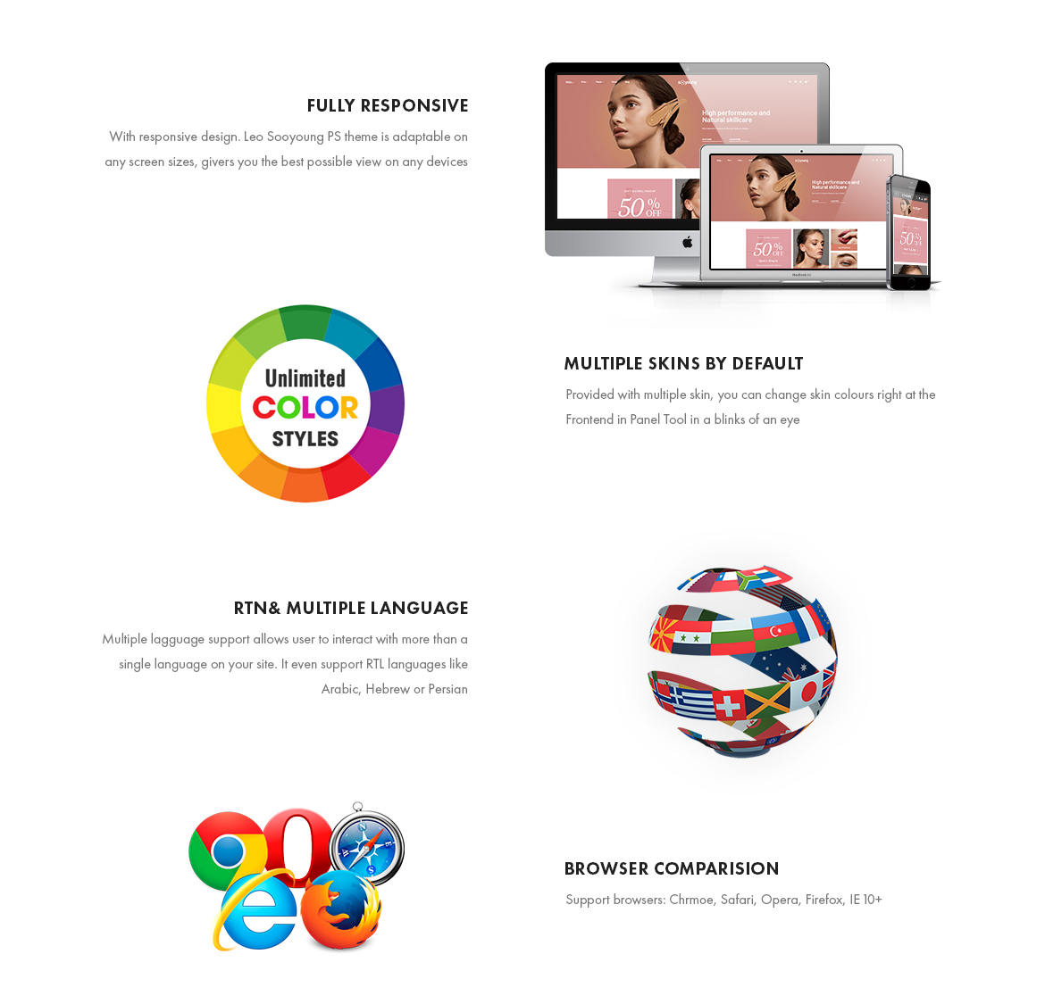 Prestashop 1.7 theme features-Leo Sooyoung - Cosmetics and Beauty Prestashop Theme