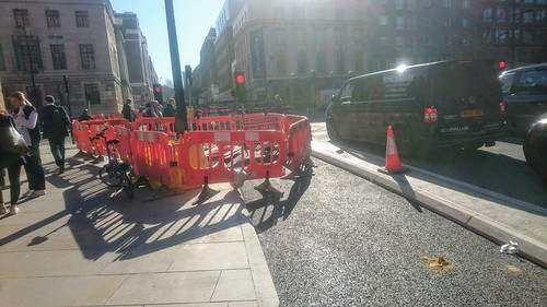 Southern end of Midland Road. New segregated southbound cycle track.
