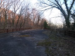 Paved bridge over Clara Barton Pwy exit to Glen Echo --trolley bridge?