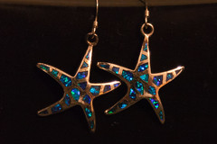 Blue Starfish Earrings