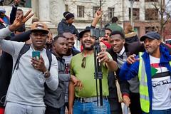 Sudanese Protestors in Manchester - 7 April 2019