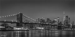Manhattan from Pebble Beach, New York