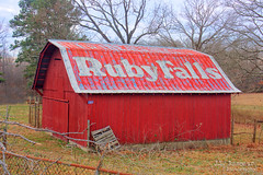 Ruby Falls barn - Manchester, Tennessee