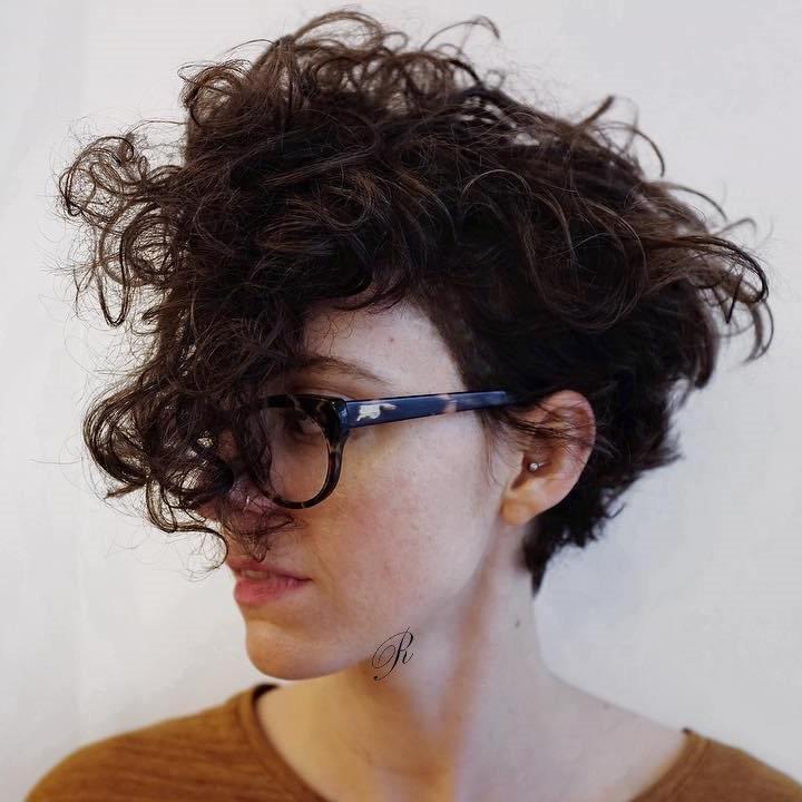 Asymmetrical Curly Pixie hair 2019