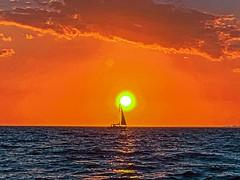 Sailboat Touches Tampa Bay Florida Sunset - IMRAN™