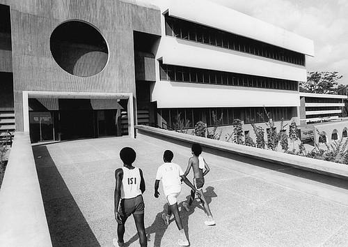 Arieh Sharon and Eldar Sharon, University of Ife (Obafemi Awolowo University), Ile-Ife, Osun, Nigeria, 1960s, Arieh Sharon Digital Archive, Yael Aloni collection.