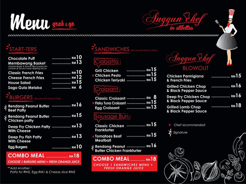 anggun chef menu