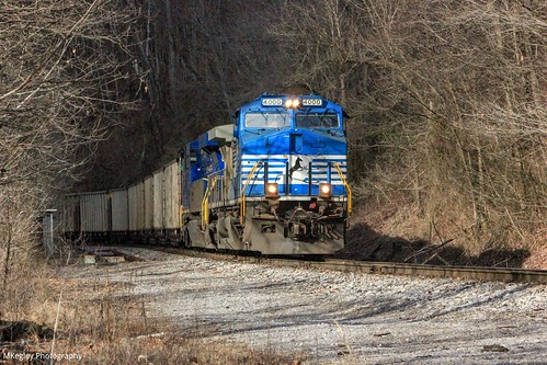 NS U47 pulling out of Andover Yard slowly from Wentz.