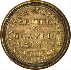 Claflin Five Cents Encased Postage Stamp Reverse