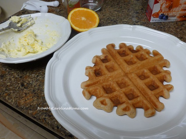 Orange Cinnamon Waffles at FromMyCarolinaHome.com