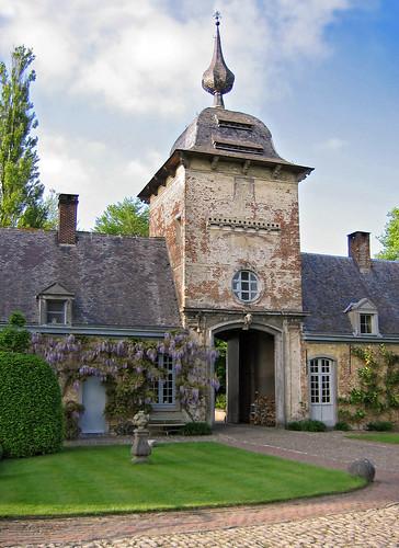 Gravenwezel Castle gatehouse. Antwerp, Belgium