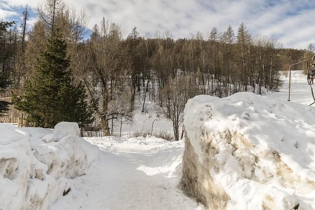 Un couloir dans la neige (1)