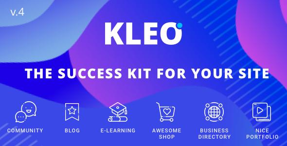 KLEO v4.4.7 - Pro Community Focused, Multi-Purpose BuddyPress Theme