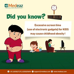 Excessive screen time cause childhood obesity