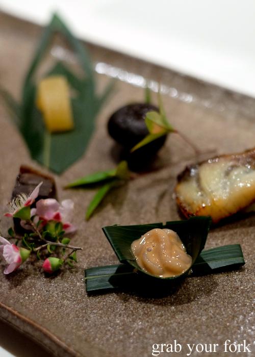 Squid shiokara during the omakase at Masuya in Sydney