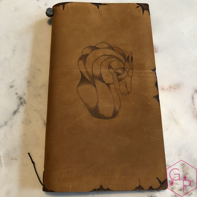 Toronto Pen Company Traveler's Notebook Leather Covers with Pyrography & Paintings 11