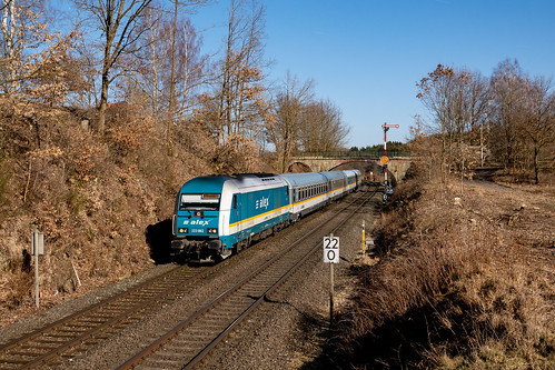 223 062 mit ALX 79858 (Hof-München) am 16.02.2019 in Reuth (bei Erbendorf)