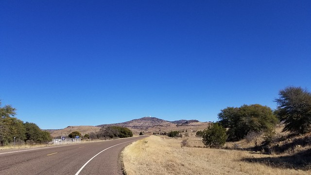the climb to the McDonald Observatory