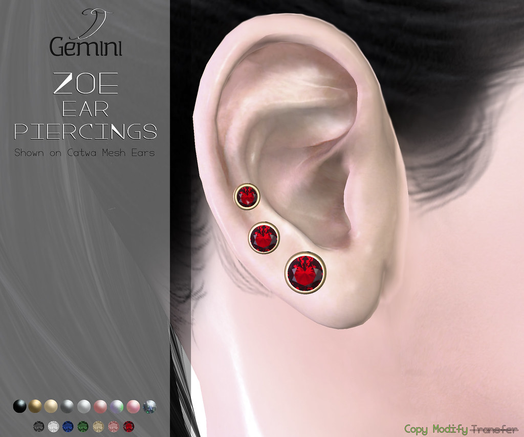 •Gemini -Zoe Ear Piercings-Vanity Event Jan Round•
