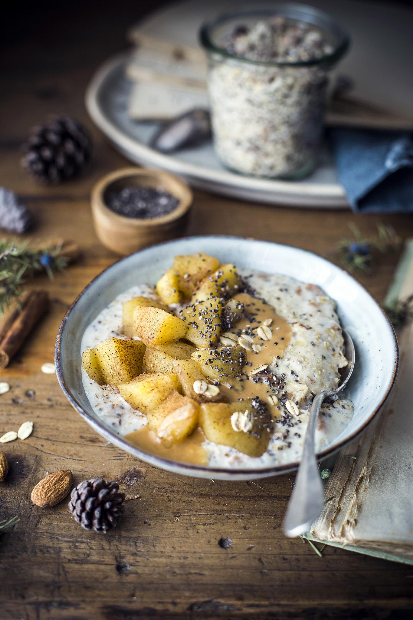 Preparato per porridge- mela e cannella