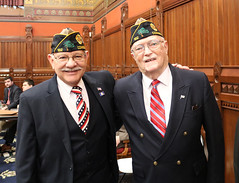 Rep. Simanski with  John Walker from Granby American Legion Post 182.