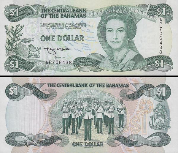 1 Dolár Bahamy 1992 P51